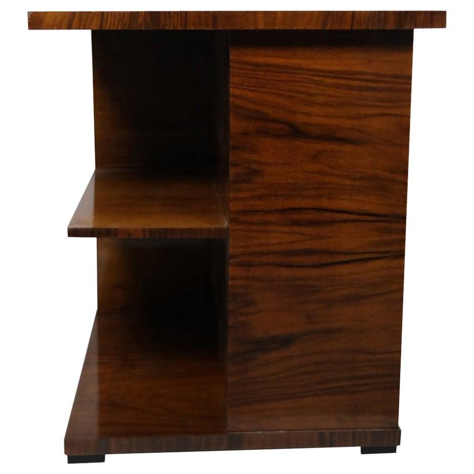 Bauhaus Walnut Veneered Side Table in Style of L. Kozma, 1930s