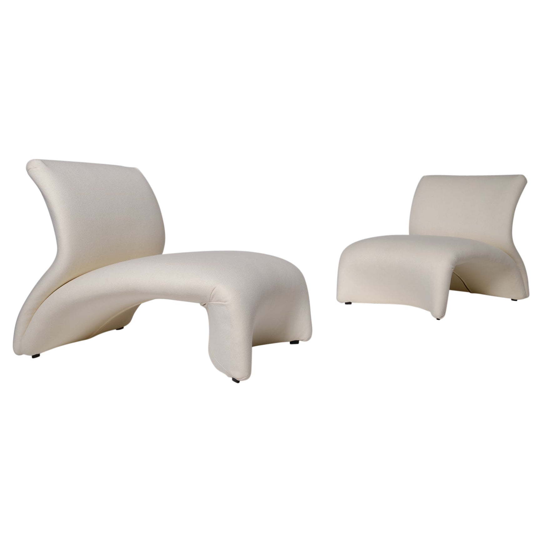 Pair of 'Kaïdo' Lounge Chairs by Kwok Hoï Chan for Steiner, 1968