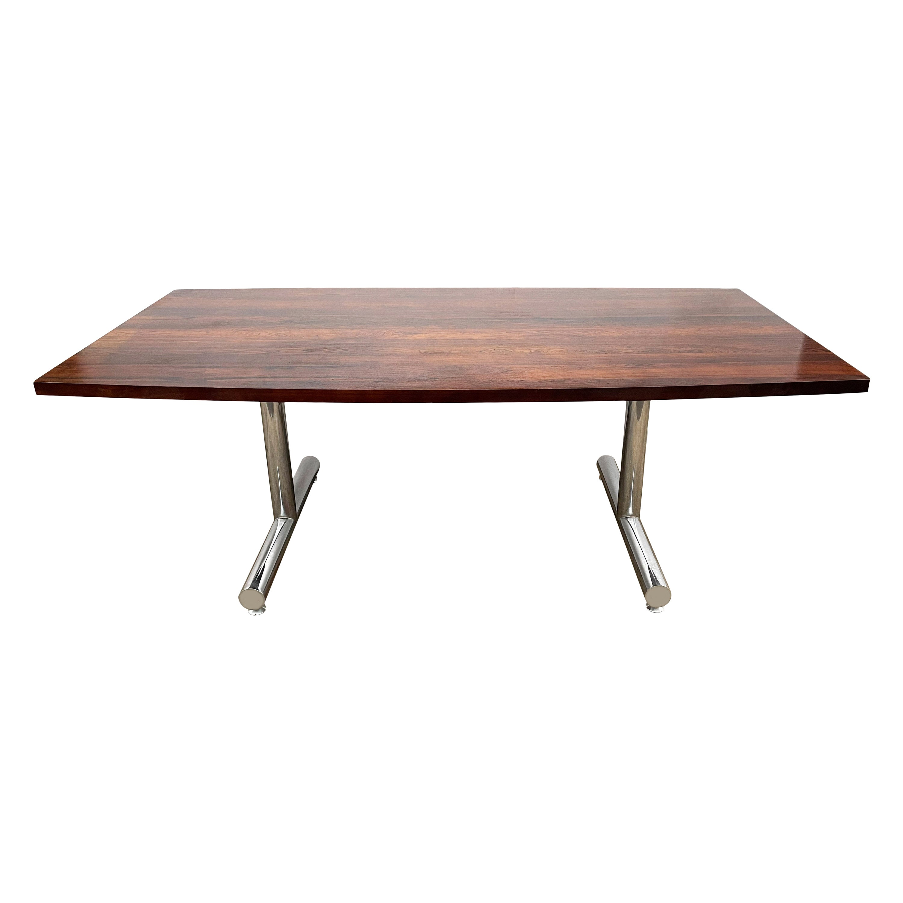 Mid-Century Modern Rectangular Rosewood Dining Table or Conference Table