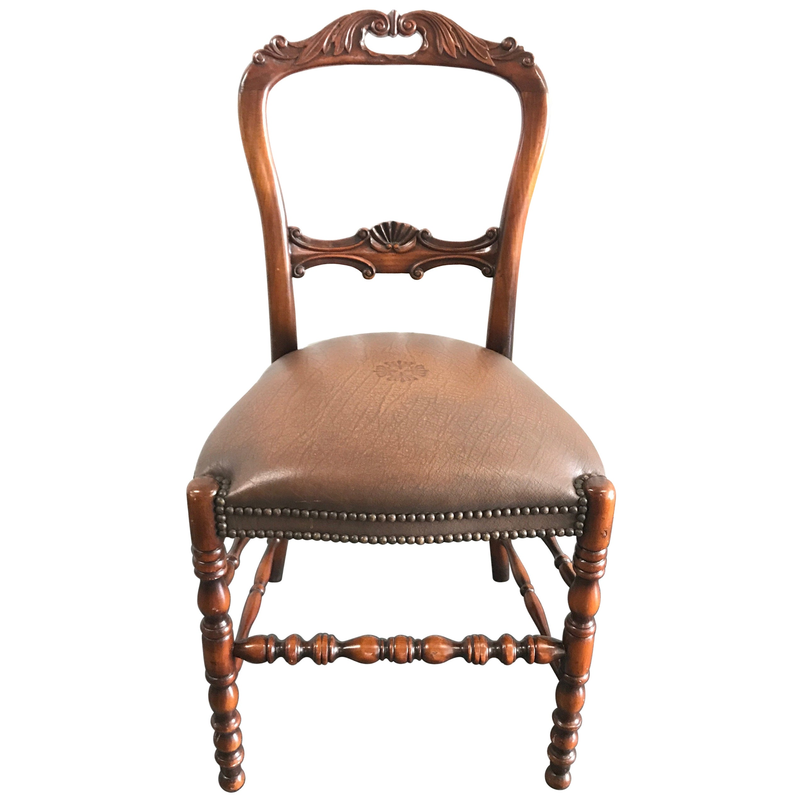 Theodore Alexander Carved Wood Desk Chair