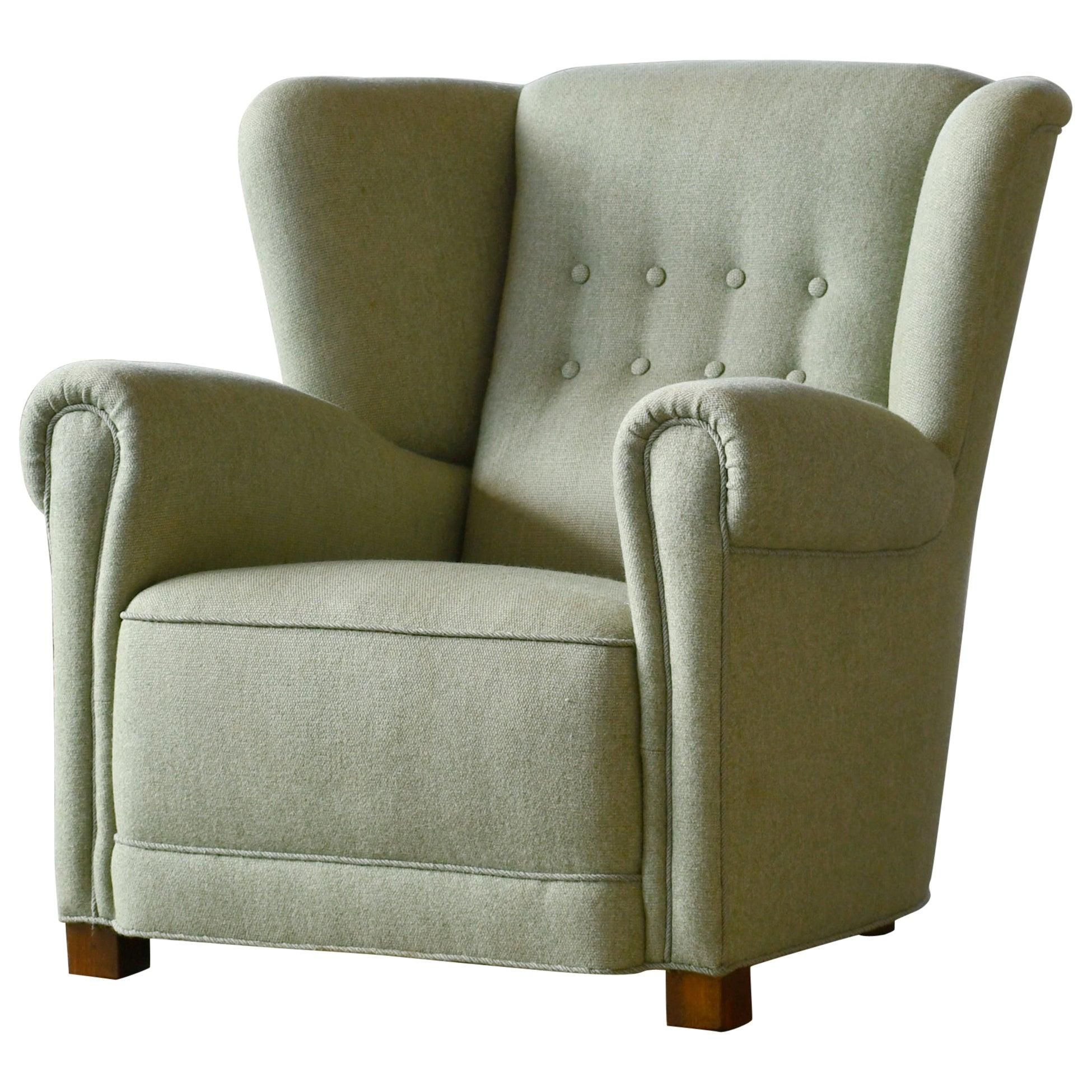 Danish 1940s Fritz Hansen Style Club or Lounge Chair