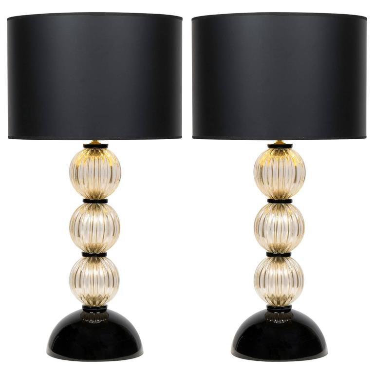 murano avventurina and black glass lamps for sale at 1stdibs. Black Bedroom Furniture Sets. Home Design Ideas