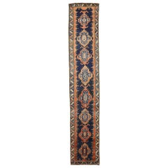 Antique Persian Runner Rug Meshkin Design