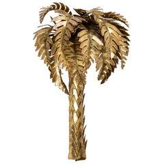 Brass Palm Tree Wall Lamp