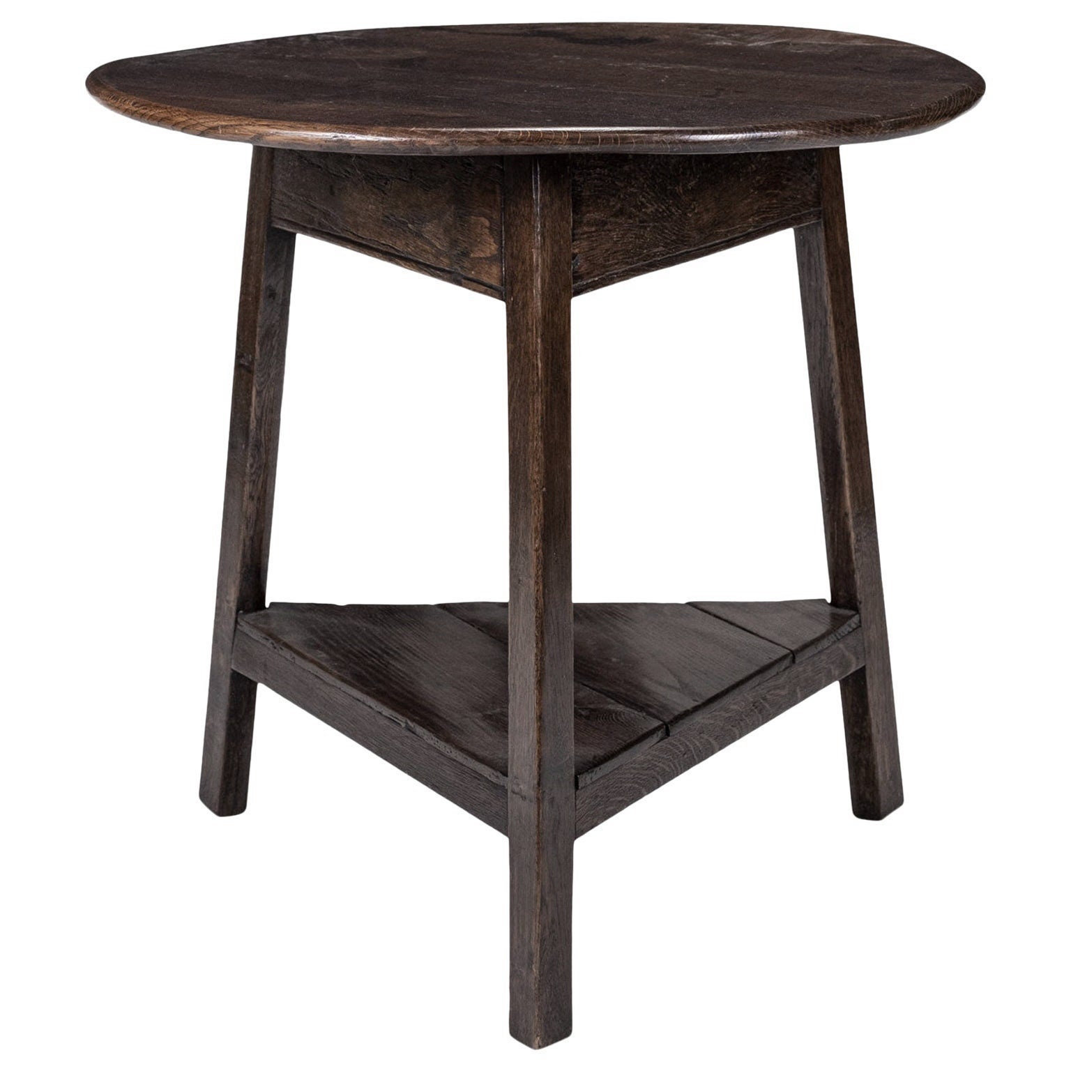 English Brown Oak Cricket Table
