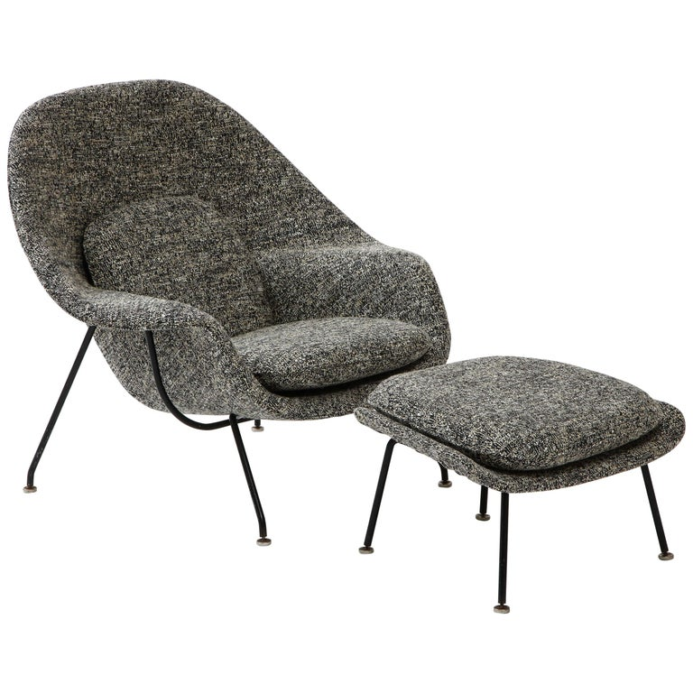 Early Womb Chair and Ottoman, Eero Saarinen For Sale