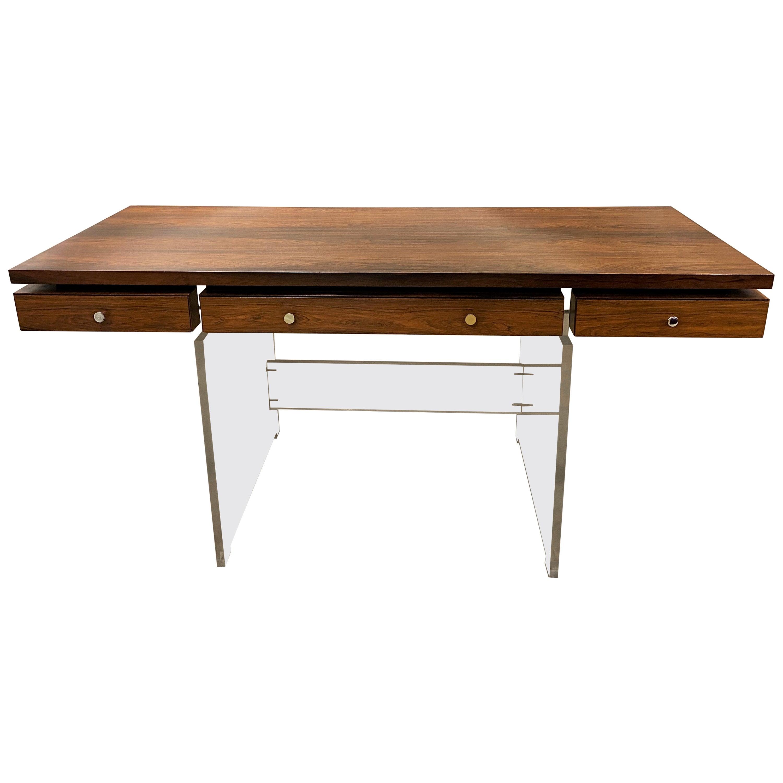 Danish Midcentury Rosewood Desk by Poul Nørreklit for Sigurd Hansen Møbelfabrik