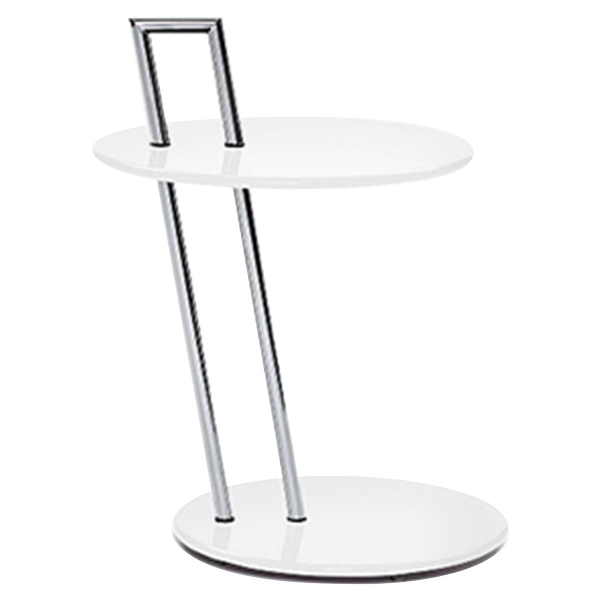 ClassiCon Occasional Round Side Table in White by Eileen Gray