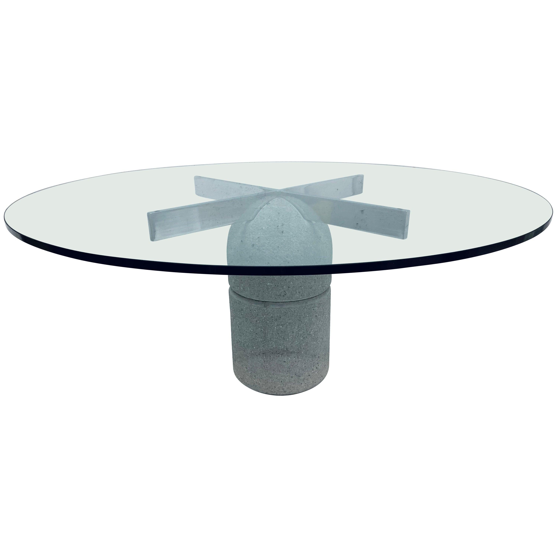 """Giovanni Offredi """"Paracarro"""" Dining or Center Table for Saporiti Italia"""
