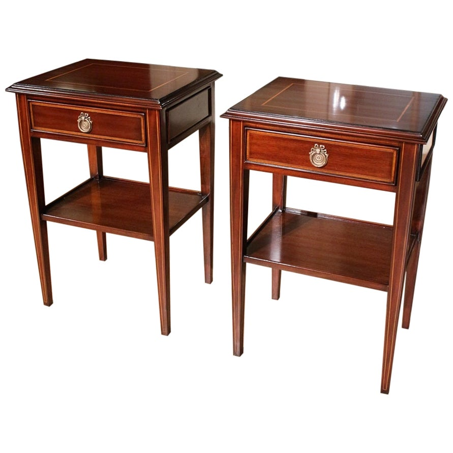 Set of Mahogany Bedsides