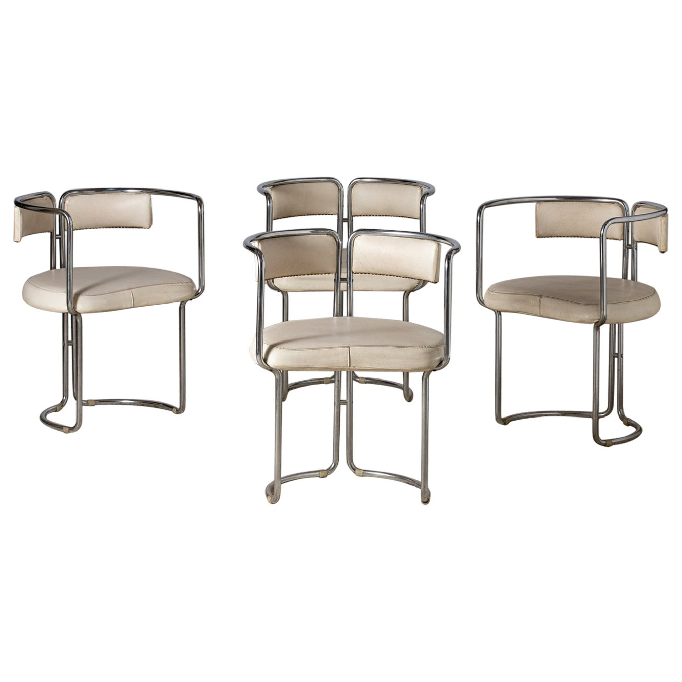 Four Dining Room Armchairs, Italy, 1970