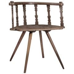 19th Century Carved Swedish Vernacular Chair