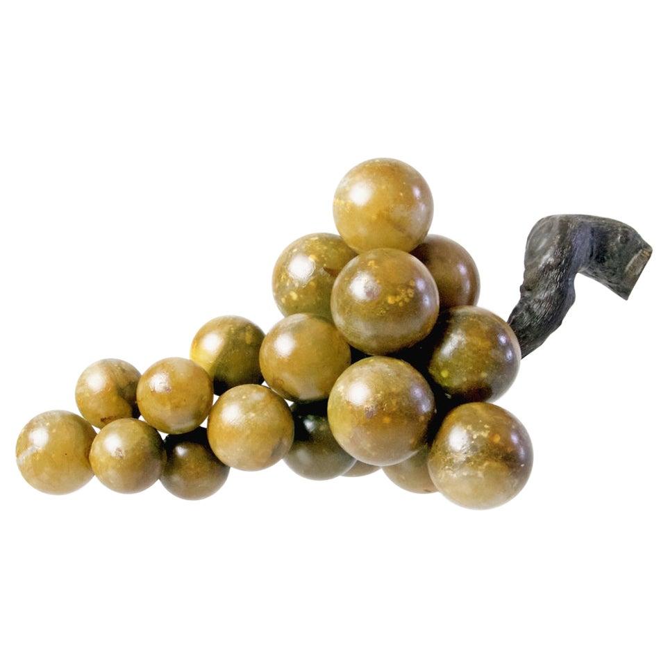 Large Midcentury Italian Alabaster Grapes