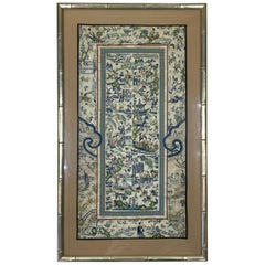 Framed Antique Chinese Textile