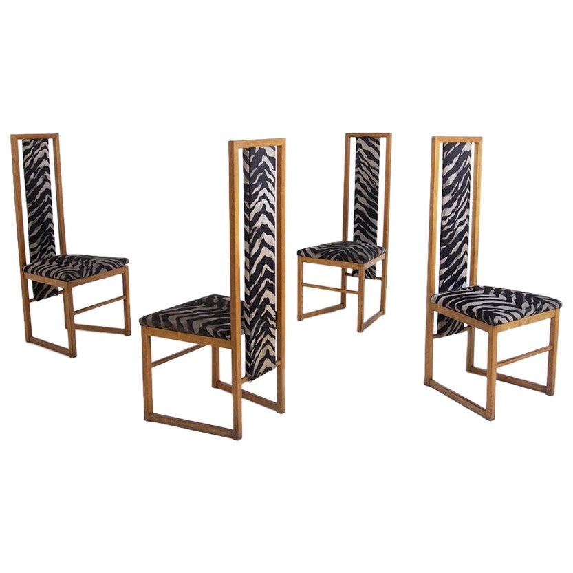 Set of Four Chair Attributed to Pierre Balmain, 1950s