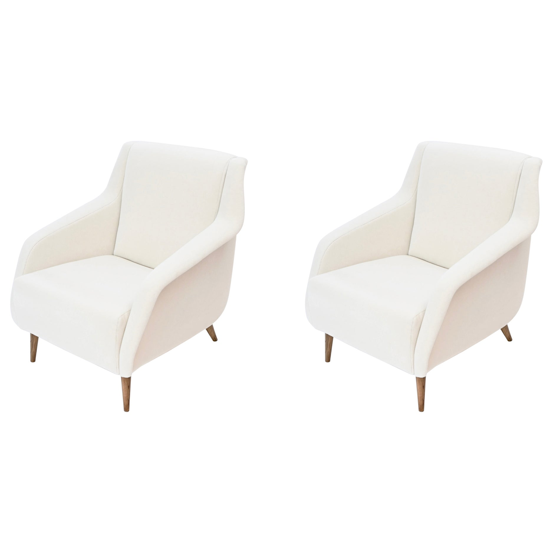 Pair of Carlo de Carli '802' Lounge Chairs by Cassina, Italy, circa 1960