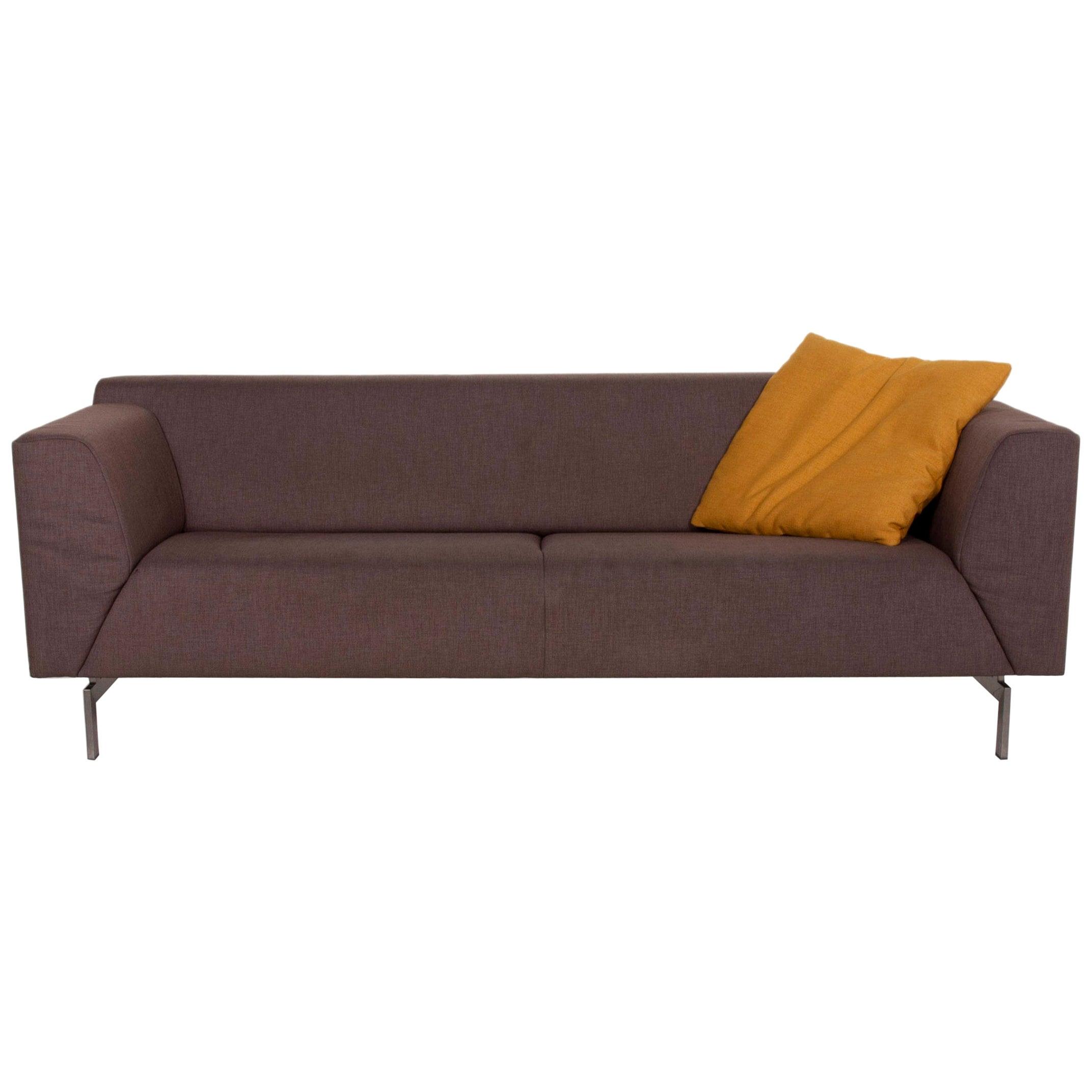 Rolf Benz 318 Linea Fabric Sofa Gray Two-Seat