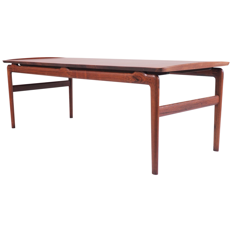 Coffee Table in Solid Rosewood by Peter Hvidt and Orla Mølgaard-Nielsen, Denmark