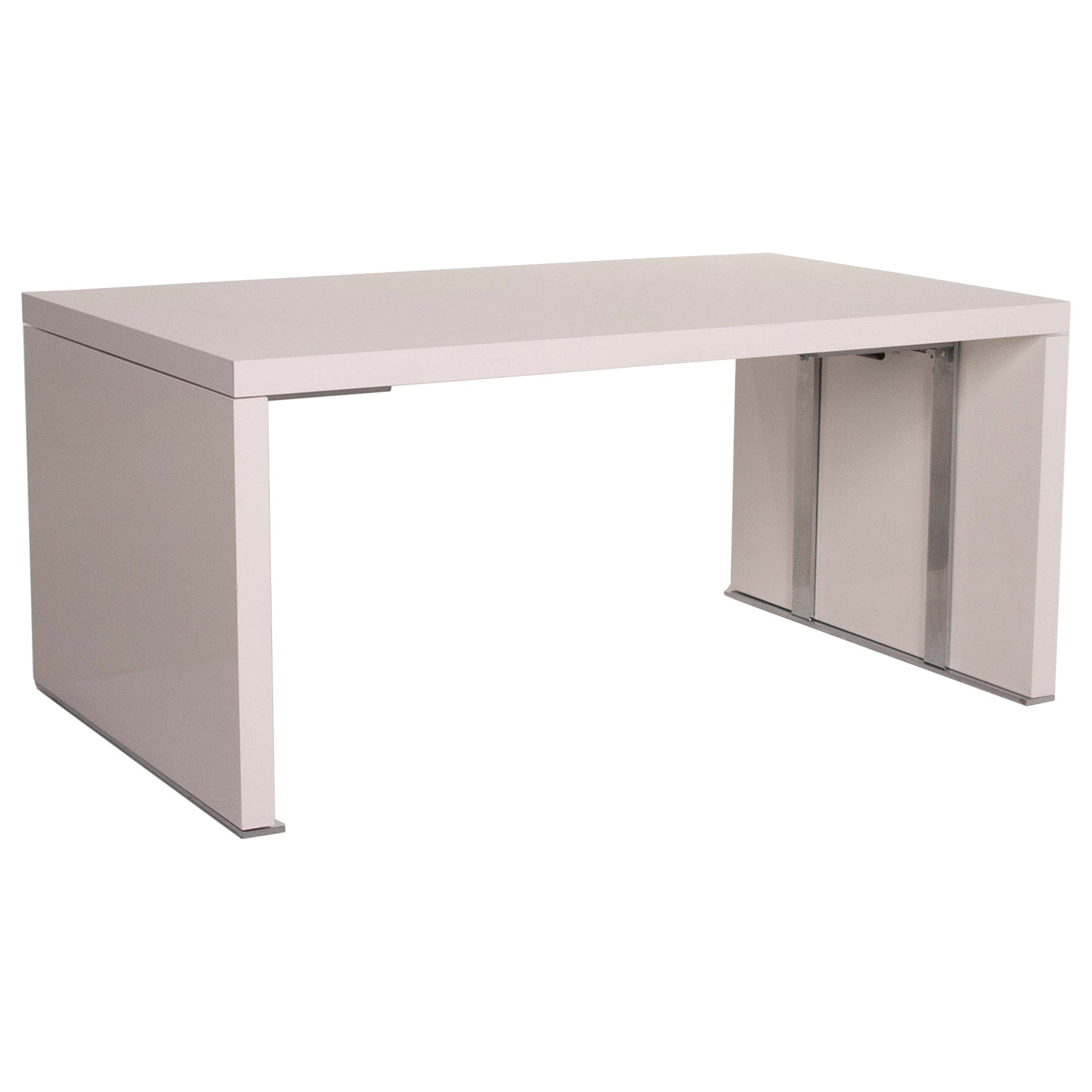 Ligne Roset Wood Table White Dining Table Function Expandable