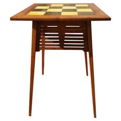Liberty & Co, an Arts & Crafts Side Table with Green & Yellow Tiles to the Top