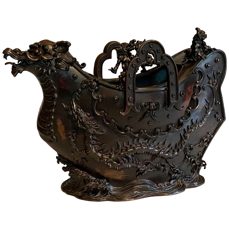 Mid-19th Century Japanese Bronze Incense Burner, Edo Period