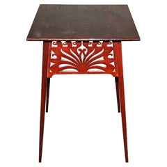 Liberty & Co, in the Style of A H Mackmurdo, an Art Nouveau Mahogany Side Table