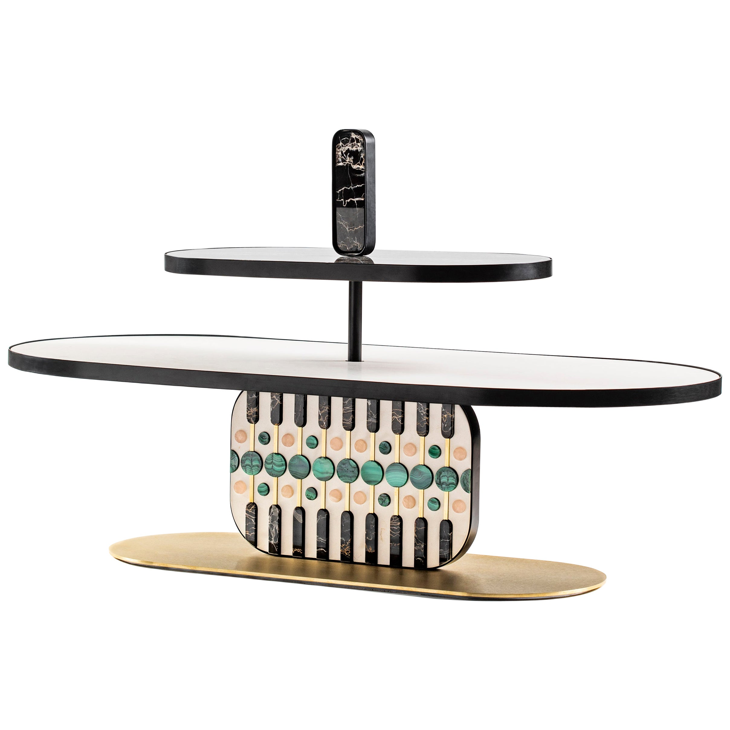 21st Century by Elena Salmistraro Coffee Table Natural Stone White