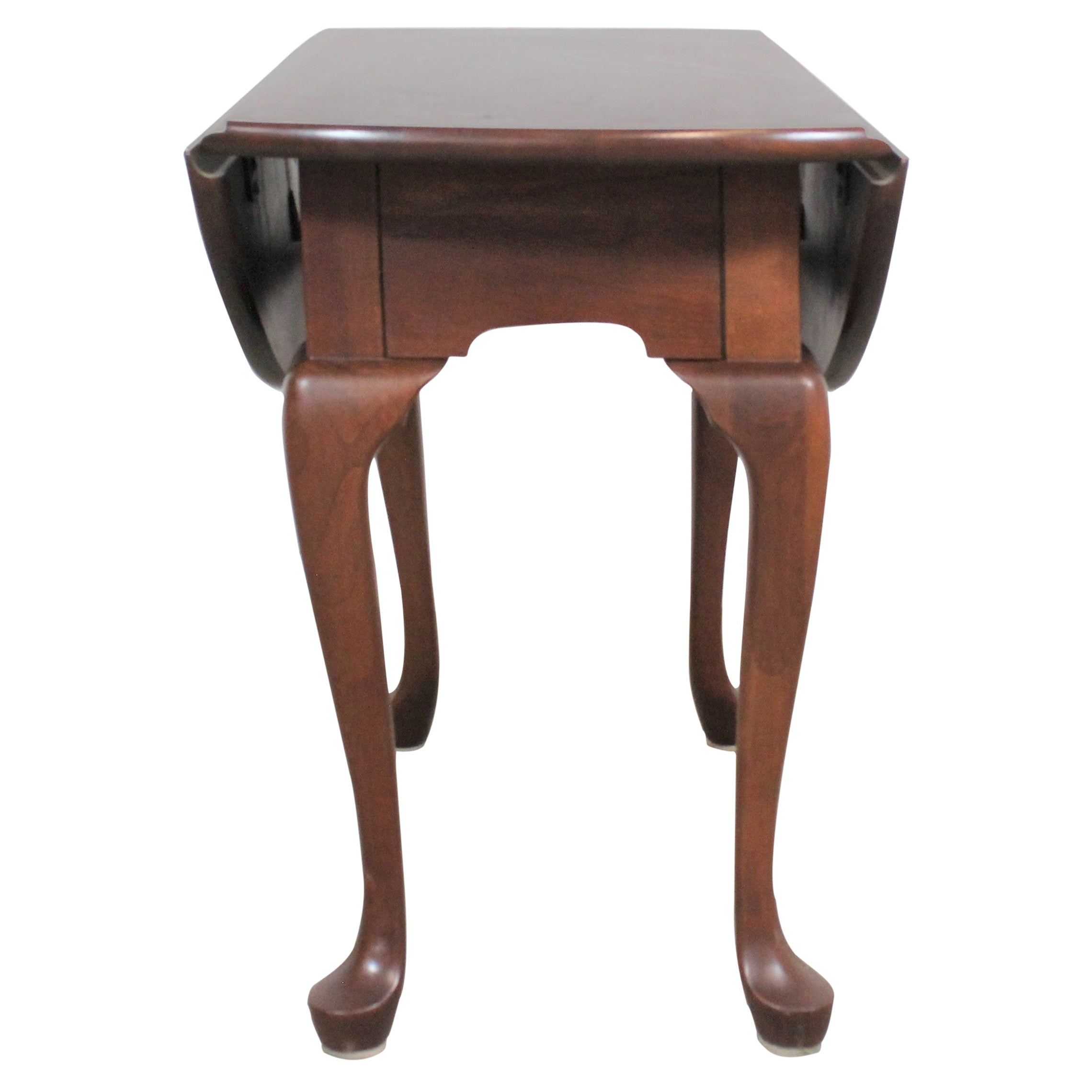Pennsylvania House Cherry Queen Anne Drop Leaf Side Table