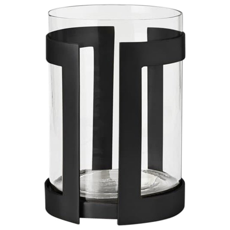Ben Soleimani Thorne Black Hurricane Candle Holder - Small