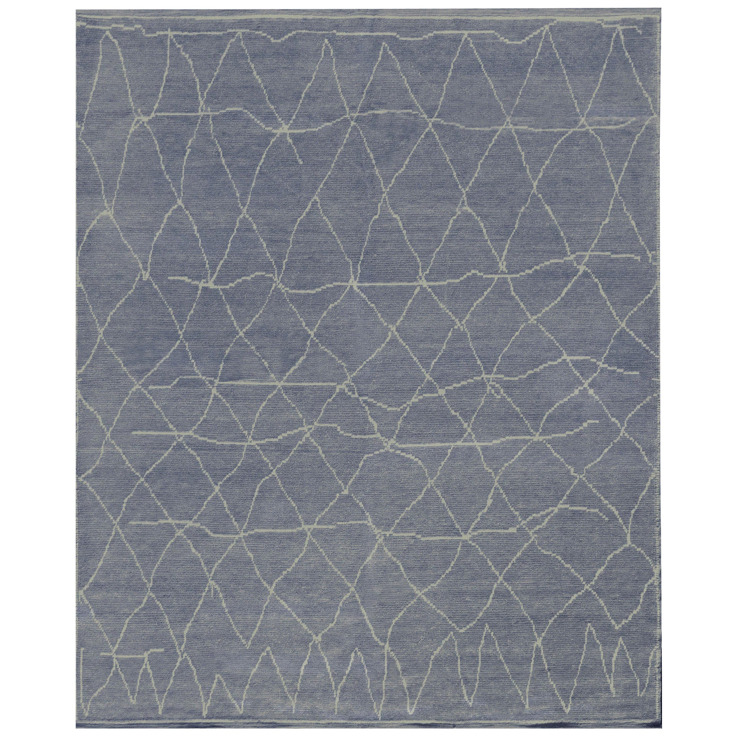 Mansour Modern Handwoven Wool Moroccan Inspired Rug