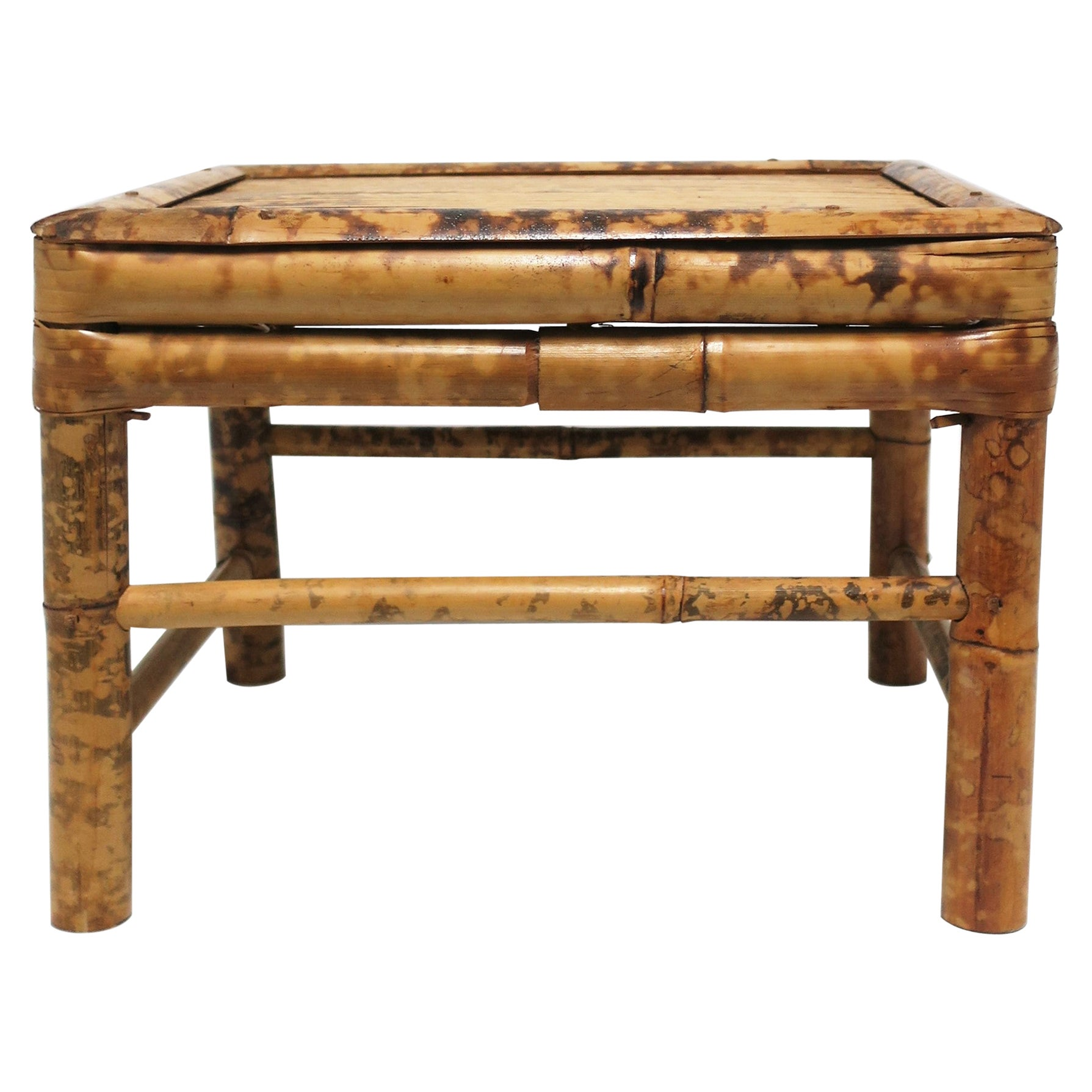 Bamboo Pedestal Side Table or Plant Stand, Small