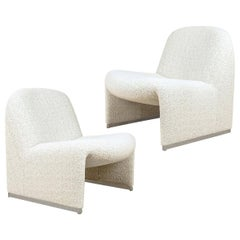 "Pair of ""Alky"" Chairs, Castelli with Dedar New Upholstery Boucle"