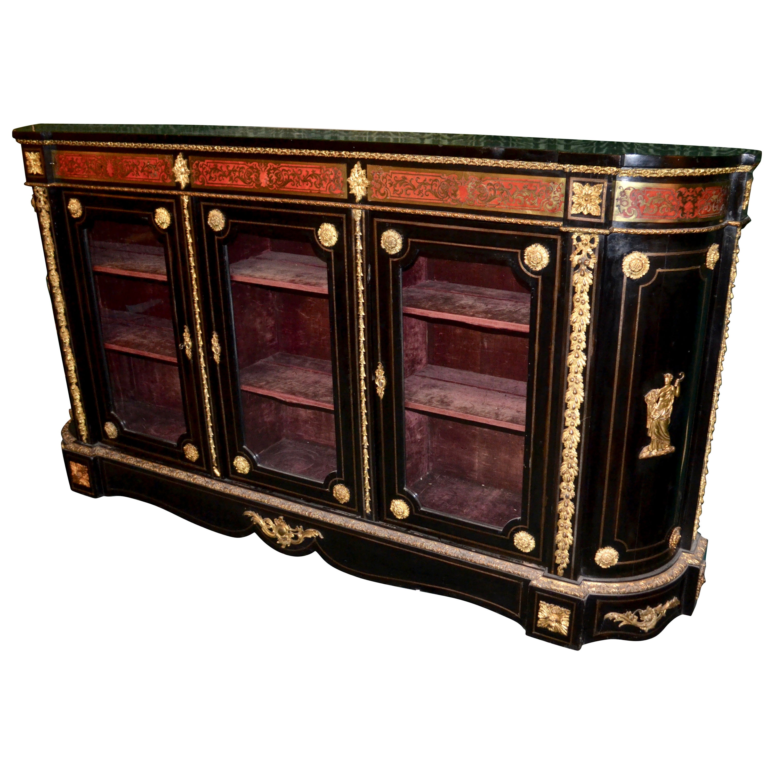 19th Century French Boulle Bookcase