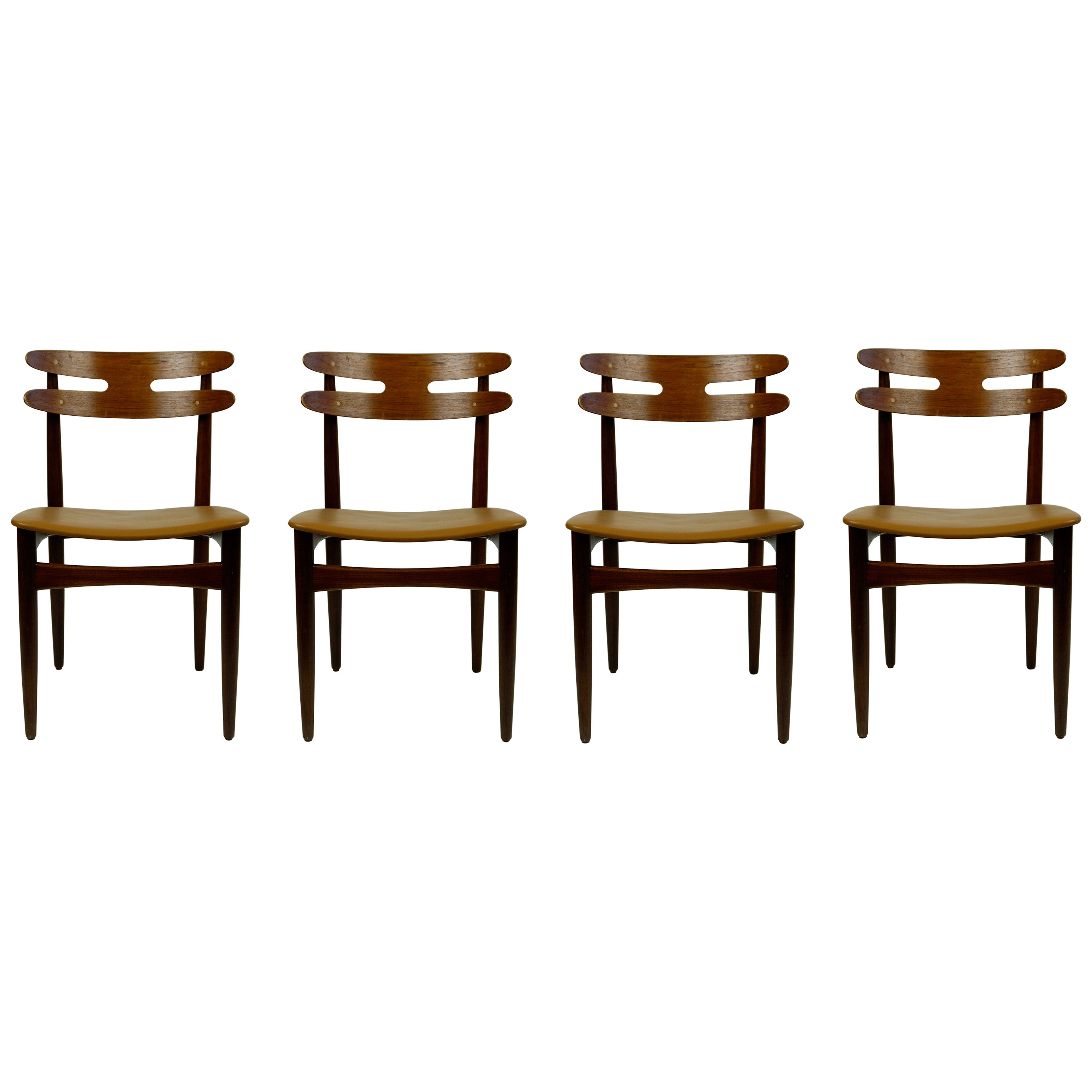 Set of Four Danish Teak Dining Chairs Mod. 178 by Johannes Andersen for Bramin