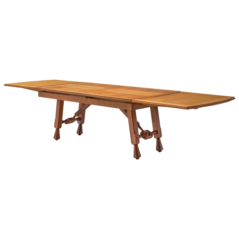 Guillerme et Chambron 'Pétrouille' Dining Table in Oak