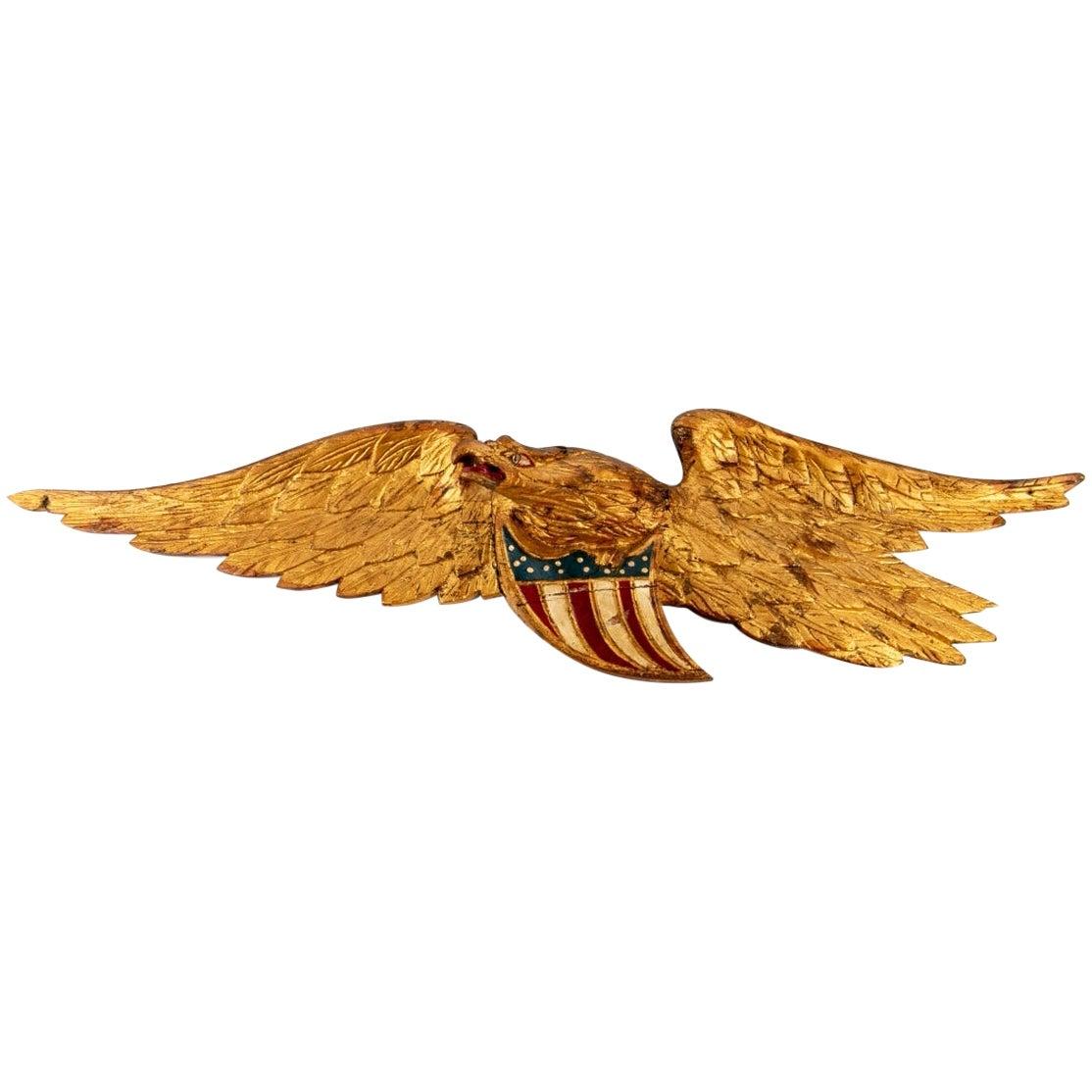 Fine Late 19th Century Carved Folk Art American Eagle