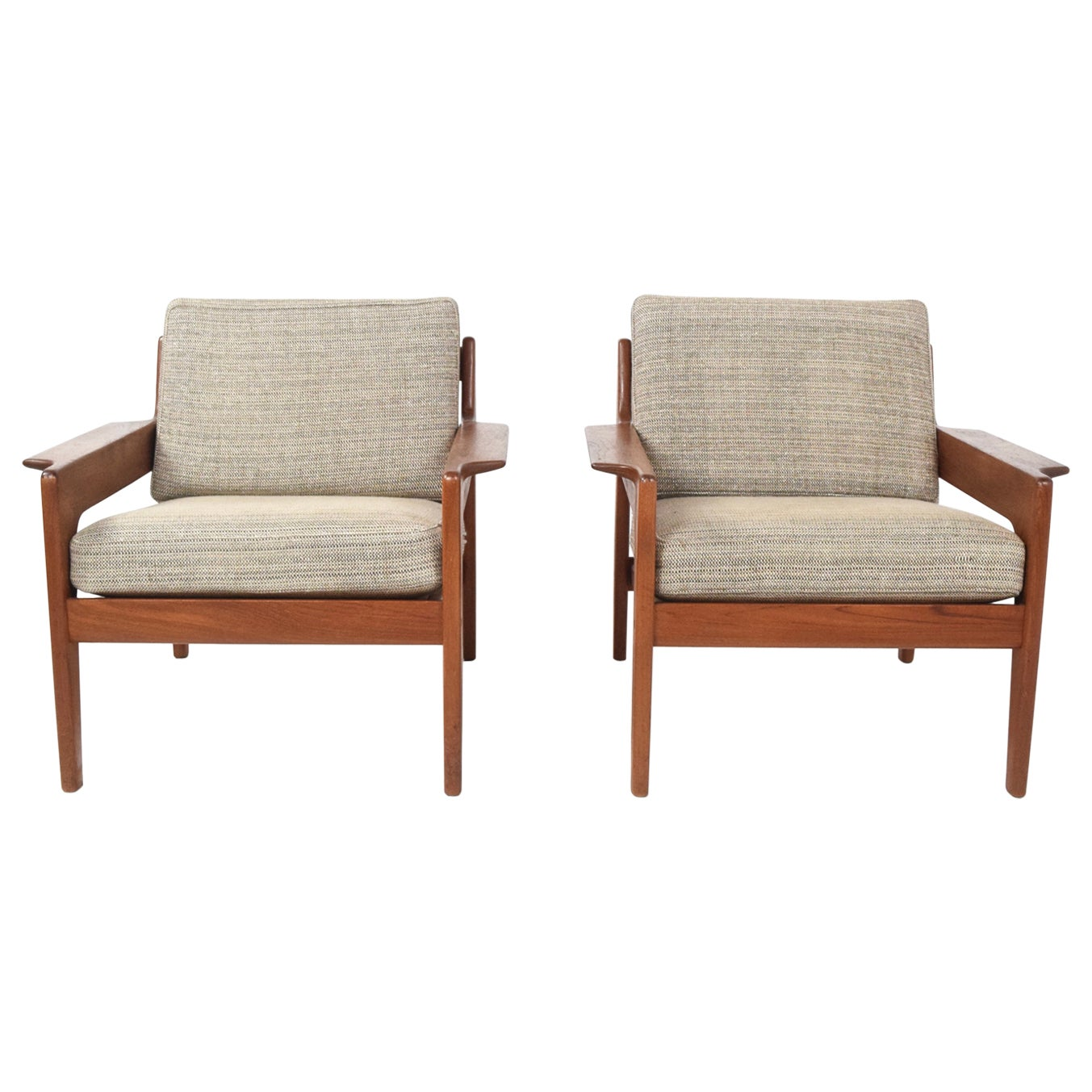 Set of Two Arne Wahl Iversen Lounge Chairs for Komfort, Denmark 1960s