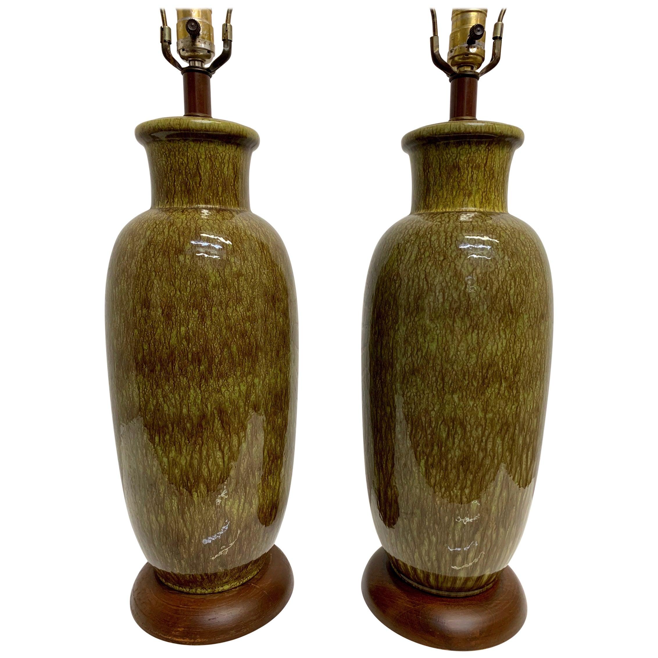 Midcentury Ceramic Table Lamps