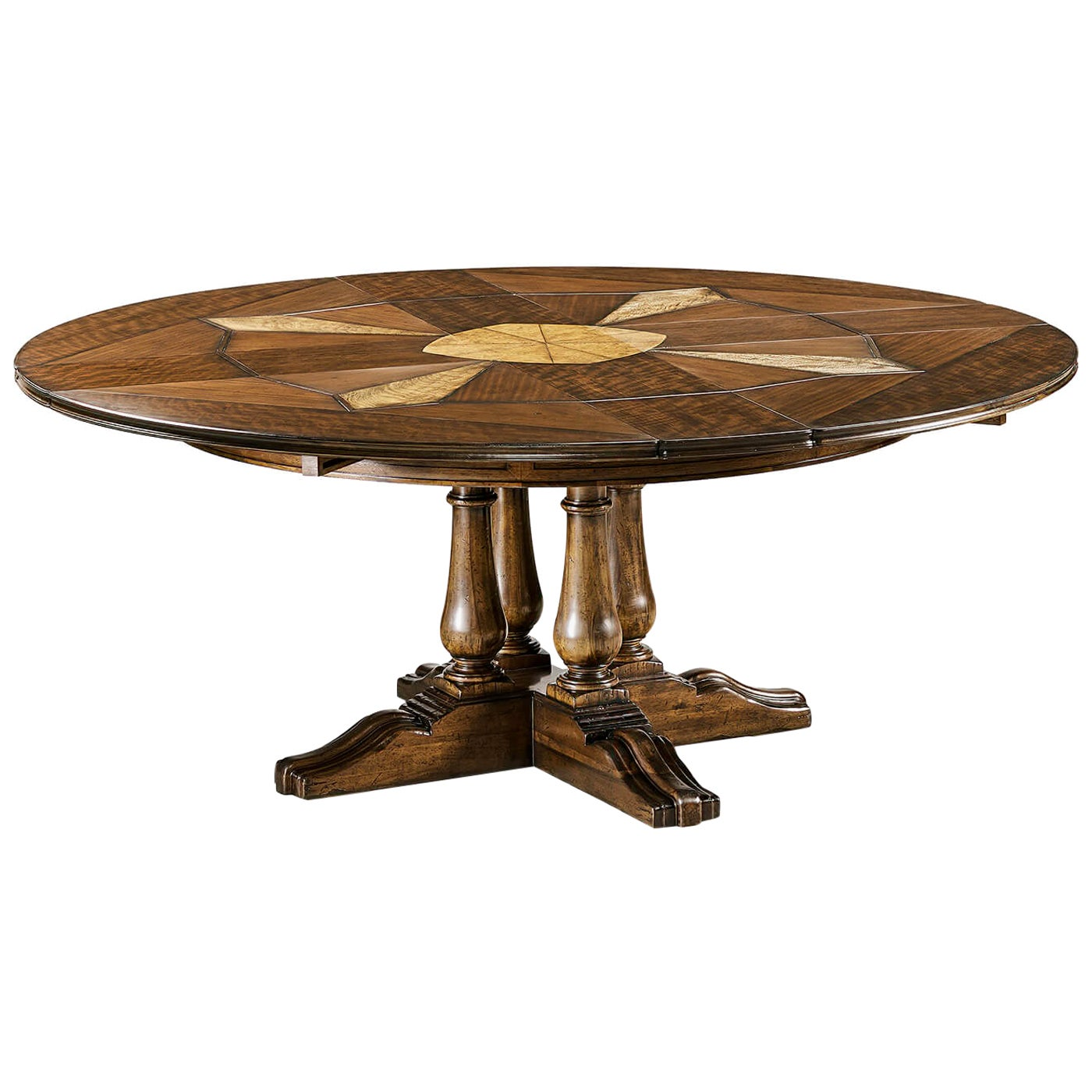 French Provincial Round Extension Dining Table