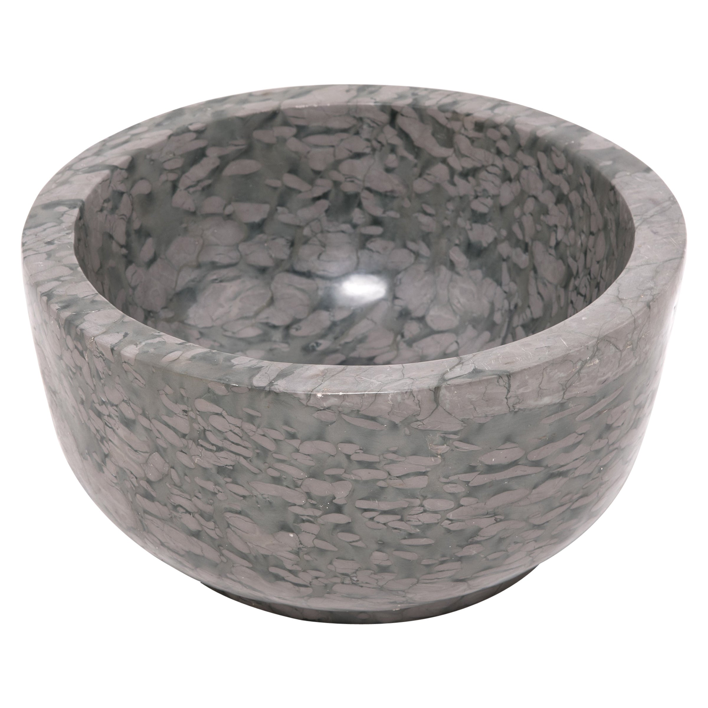 Hand Carved Footed Zhenzhu Stone Basin