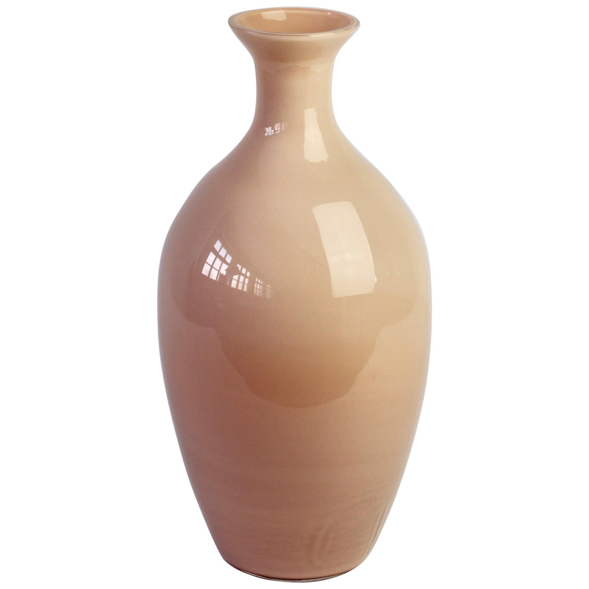 Cenedese Nude Pink Vintage Midcentury Italian Murano Art Glass Vase