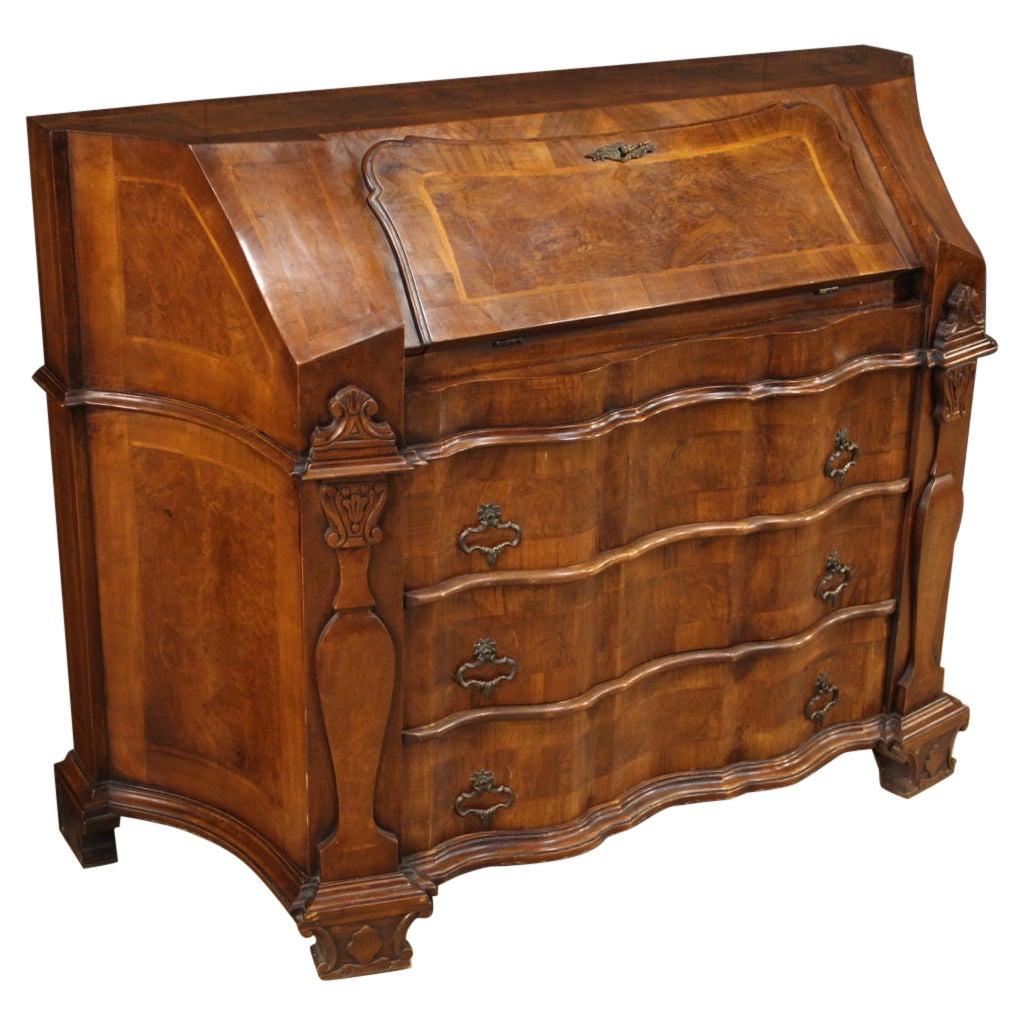 20th Century Inlaid Wood Venetian Bureau Desk, 1960