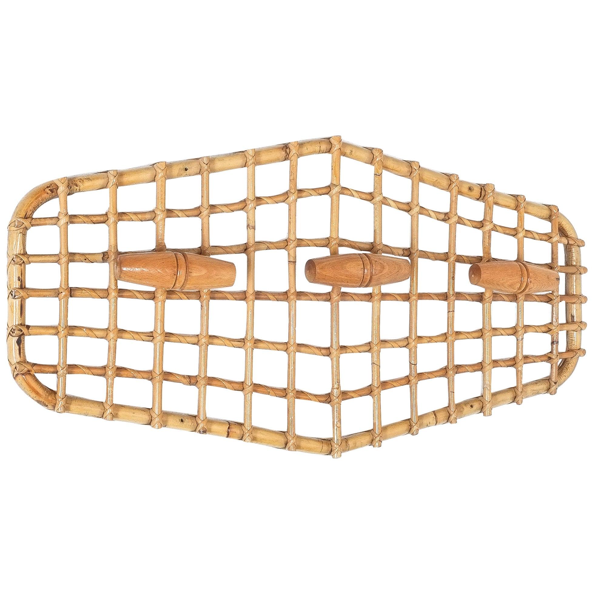 Bamboo Coatrack by Olaf von Bohr, Italy Midcentury