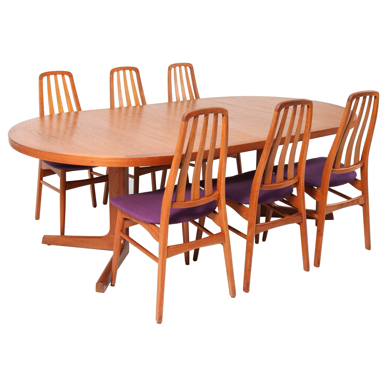 Teak Mid-Century Modern Dining Room Set by IMHA, Denmark, 1960s