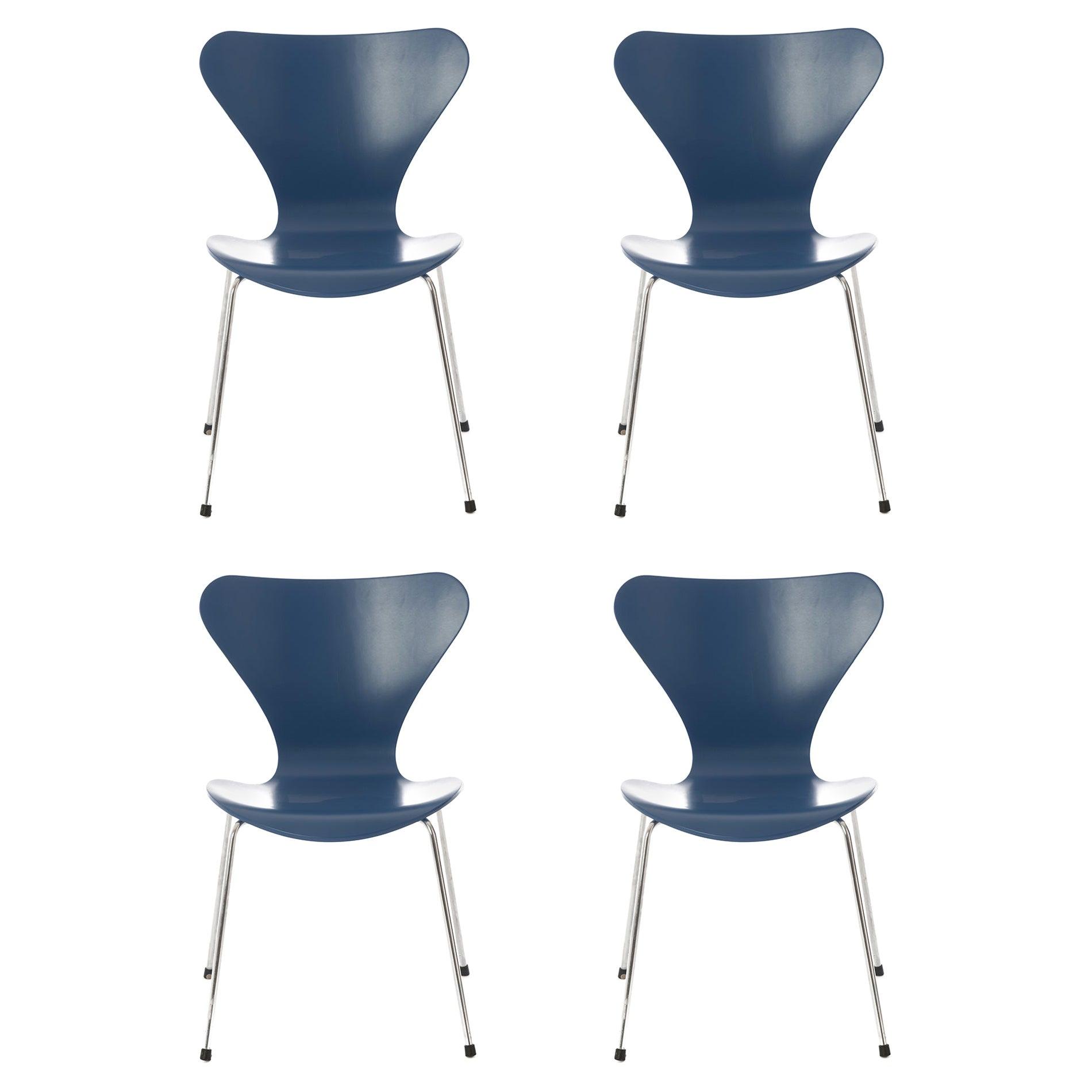Danish Modern Original Series 7 Chairs by Arne Jacobsen, Set of 4