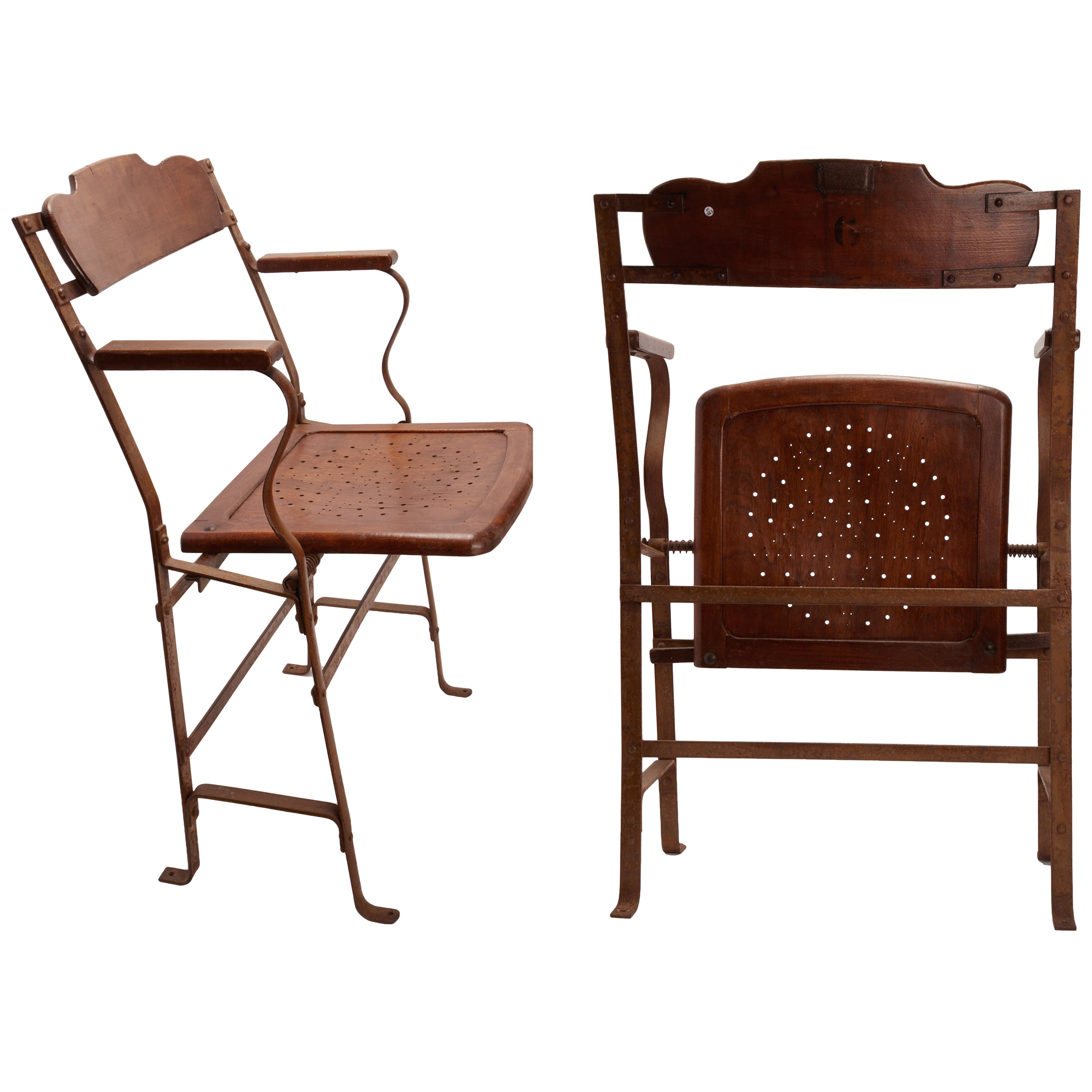 Pair of Movie Theater Chairs, France, 1900