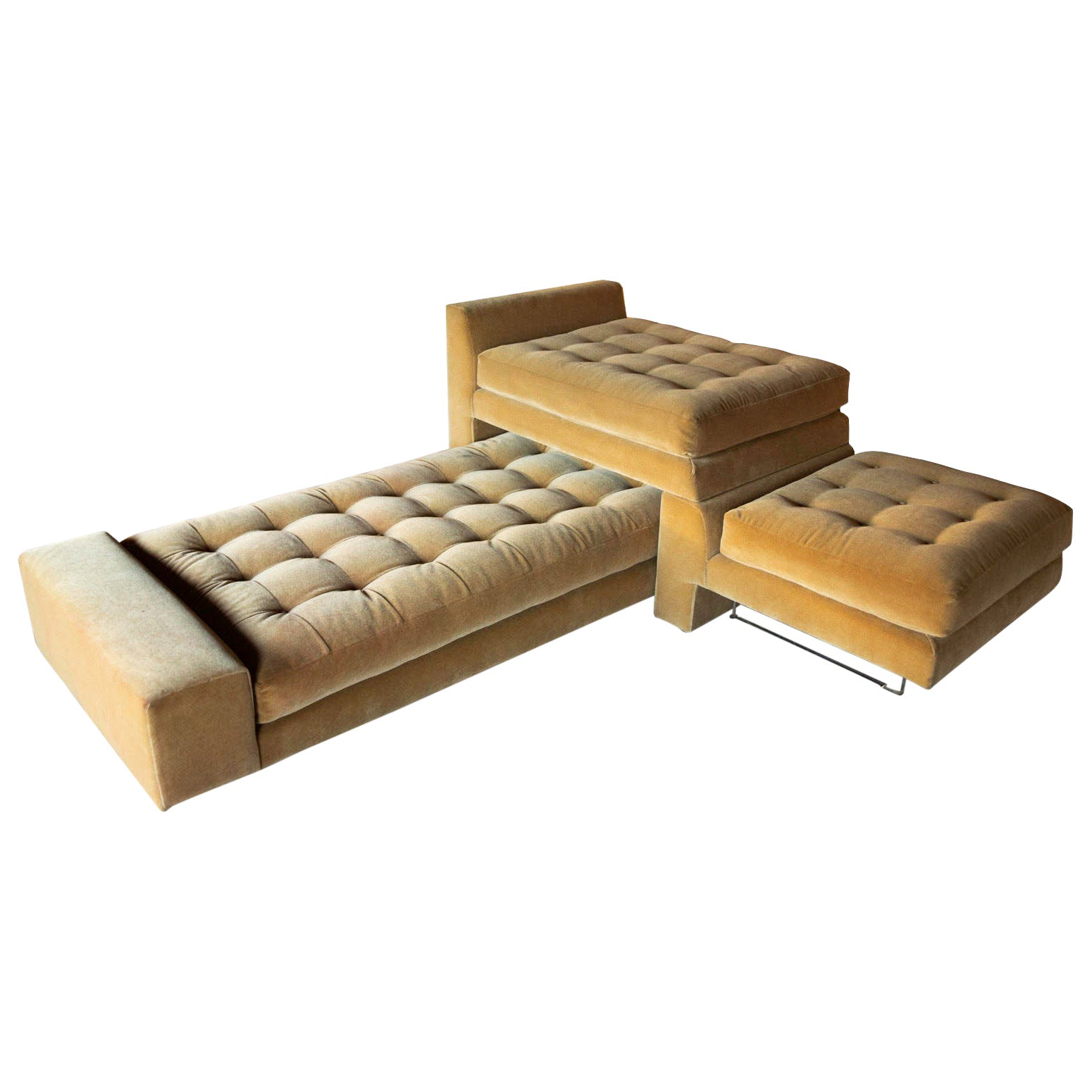 Vladimir Kagan Omnibus Modular Sofa in Mohair