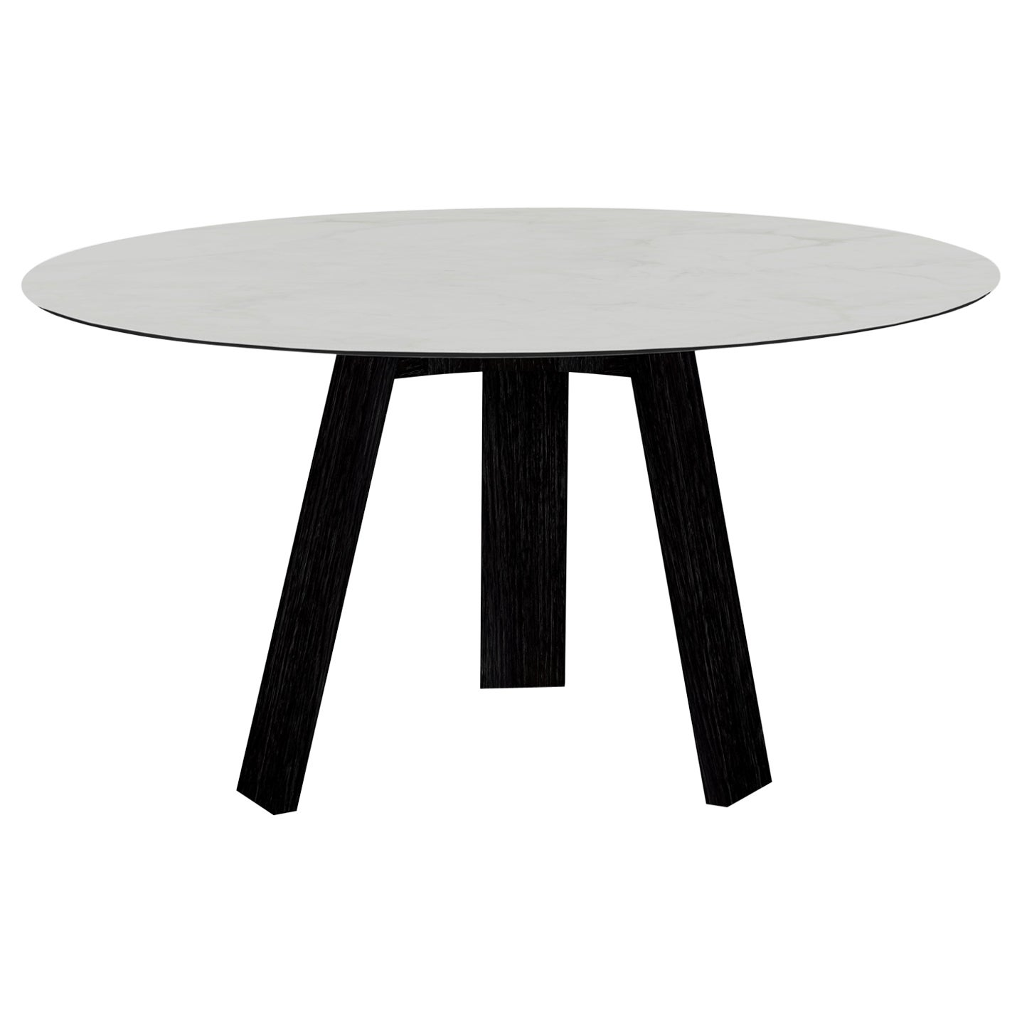 Maya Dining Table, Black-Stained Ash and Ceramic by Lars Beller Fjetland