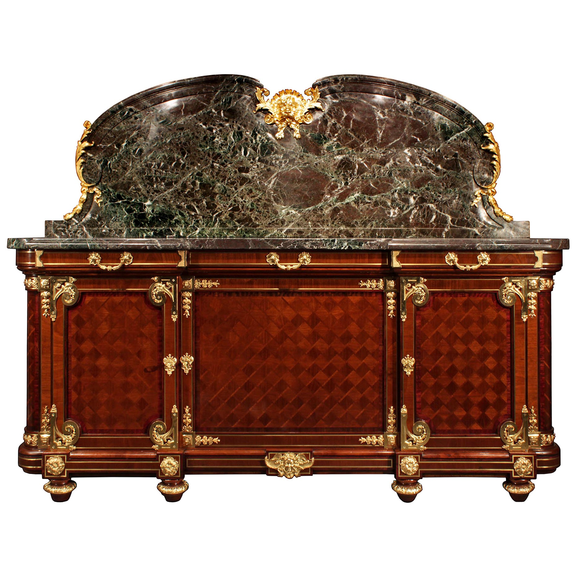 French 19th Century Louis XVI Style Mahogany and Ormolu Buffet
