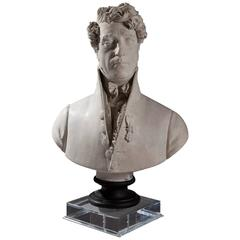 Plaster Cast Bust of Auguste Marmont by Raggi
